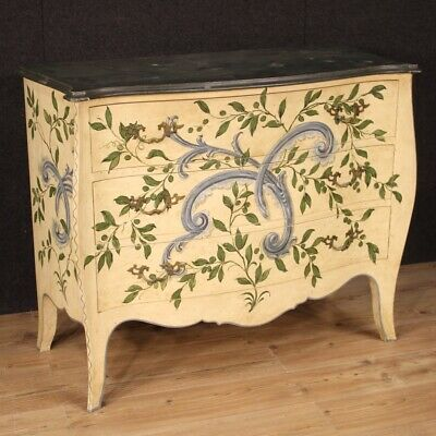 Dresser chest of drawers commode in lacquered wood furniture antique style