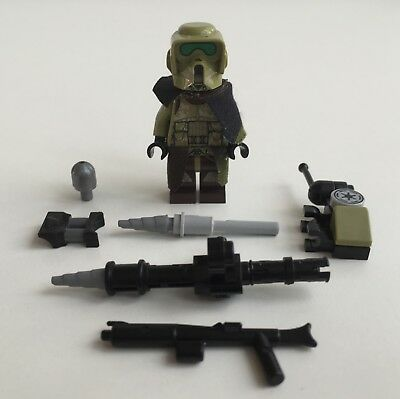 Lego Star Wars Kashyyyk Scout Trooper + Top Custom Equipment & Man Pad/Missile