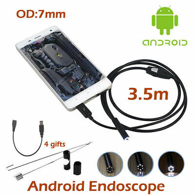 Waterproof 7mm 6LED Android Endoscope Borescope Snake Inspection Camera iR