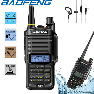 Baofeng IP67 Waterproof Walkie Talkie Dual Band FM Two Way Ham Radio = UV-9R