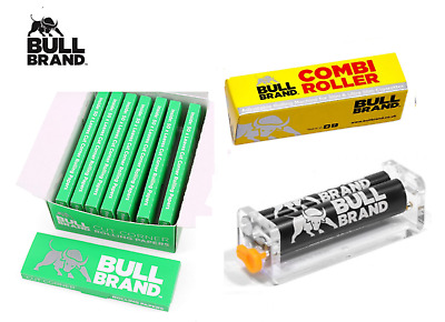 Bull Brand Combi Slim Cigarette Rolling Machine & Green Rolling Papers VARIATION
