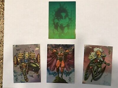 1993 X-Men Series 2 Rare Wolverine Hologram X-H And H1-H3 Set NEW