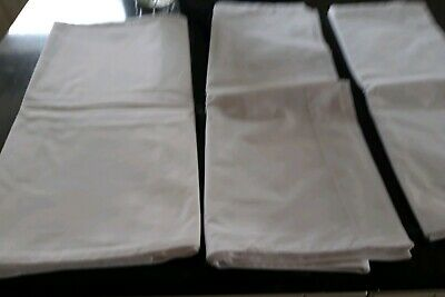 3 Very Long Victorian White Cotton Bolster/pillow Cases.