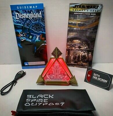 NEW Disneyland Star Wars Galaxy's Edge Sith Holocron W/ Lights & Sound Effects