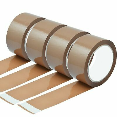 6 X Strong Brown Packing Tape Parcel Tape Long Length Low Noise  48MM X 132M NEW