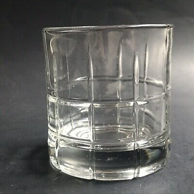 8 Anchor Hocking Tartan Grid Manchester Plaid Drinking Glasses Rocks Tumblers