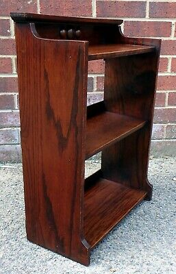 Edwardian antique Arts & Crafts solid oak dwarf libarary bookcase book shelf
