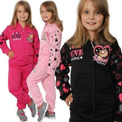 Thermo Girl Jogging Suit Children Cat Trackies Jacket Tracksuit Baby 72