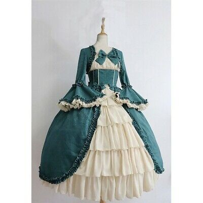 Women Lolita Ruffle Vintage Classic Lolita Lace Victorian Cosplay Gowns Dresses