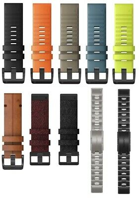 Garmin Quickfit 22 Watch Band Silicone, Nylon, Leather, Titanium all colors