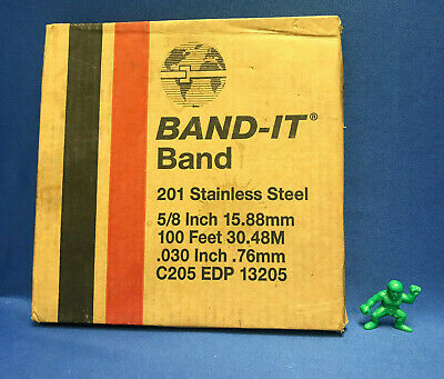 "BAND-IT C205 EDP13205, 5/8"" X 100', 201 Stainless Steel Banding"