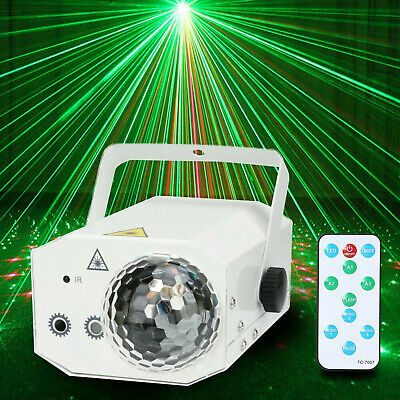 6in 1 Sound Active Stage Lighting LED Light Laser Beam RGB Projector Party AWY