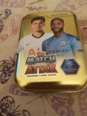 Topps Match Attax 2019-20 100 Different Cards In Box.includes Gold Card.