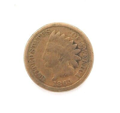 .1864 Us Indian Head 1 One Cent.