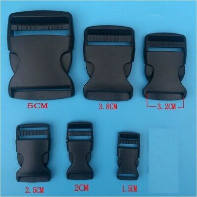 1PC - Black Plastic Quick Fast Release Buckle Clip For Backpack Bag Cord Strap