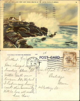 1939 Portland Head Light First Light House Erected By The United States Of Ameri