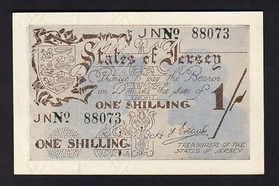 JERSEY P-2a. WW.11 German Occupation. (1941-42) One Shilling.. UNC