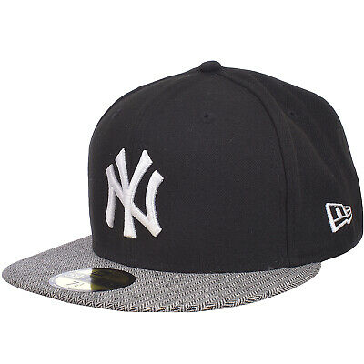 New Era 59Fifty Mens MLB New York Yankees Baseball Hat Cap - Black 7 1/4 Inches