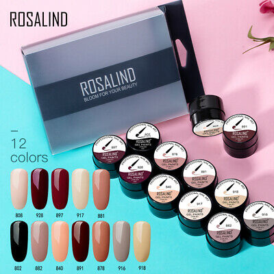 ROSALING 6-12/set Painting Gel Art Gel Nail Paint Gel Paint Polish Gel Polish