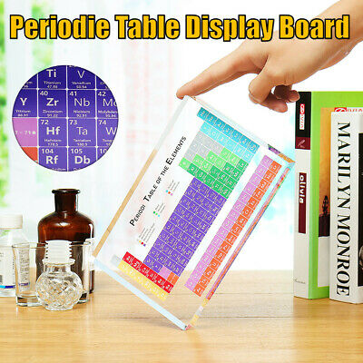 3Size Chemical Elements Acrylic Periodic Table Display Board Ornament Gift