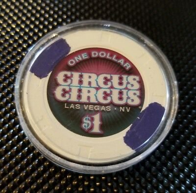 Circus Circus Casino Las Vegas $1 Chip 2017 New Release In Plactic Holder FFS