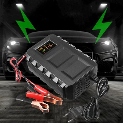 LCD Intelligent 12V 20A Automobile Lead Acid Battery Charger Car Van Motorcycle#