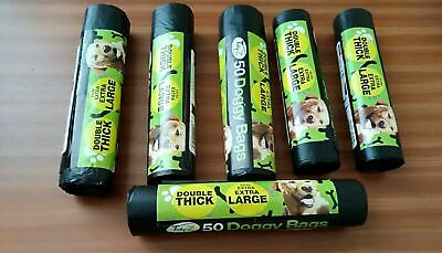 300 x LARGE DOGGY BAGS Pet Pooper Scooper Dog Cat Poo Waste Poop EXTRA STRONG