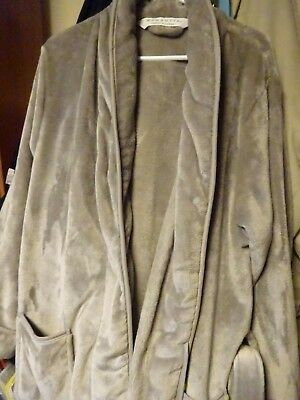 attractive price official store latest design WAMSUTTA - LARGE/X-LARGE Plush Bath Robe - Gray Grey Very Soft! Satin Trim  NWOT