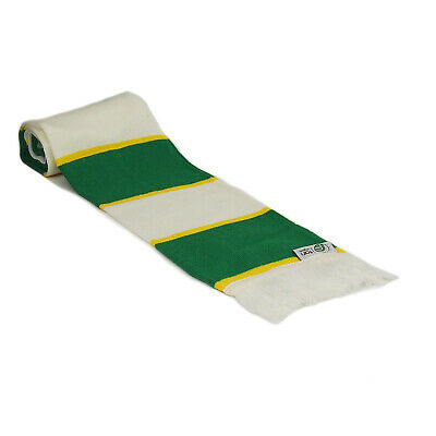 fan originals Retro Football Bar Scarf in Celtic Colours Green White