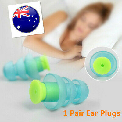 1Pair Silicone Noise Cancelling Ear Plugs Hearing Protector for Sleeping Music