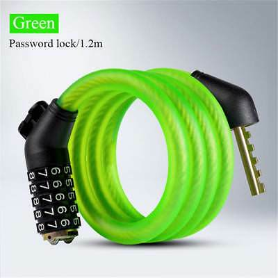 Coiled Cable Anti Theft 1.2M 5 Letters 1.8M Lock Password Lock Cycling Code Lock