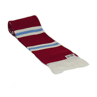 fan originals Retro Football Bar Scarf in West Ham United Colours Claret Blue