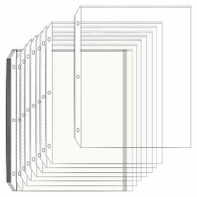 Arae Clear Sheet Protectors 8.5 x 11 inch with Standard 3-Ring Binder, 50ct