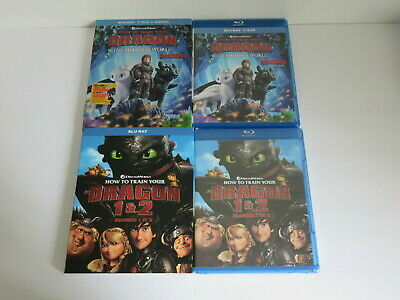 How To Train Your Dragon 1 2 3 Trilogy Blu Ray Bluray Mint Slipcovers