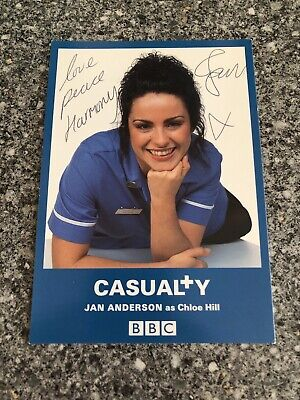 Jan Anderson (Casualty) Signed Cast Card