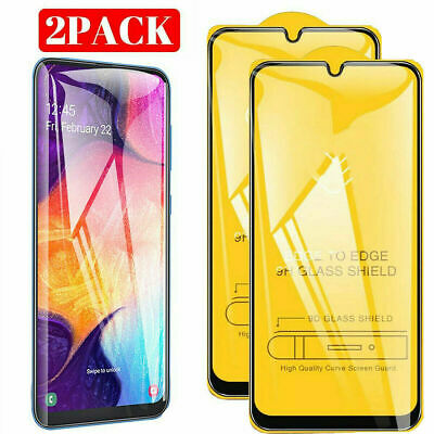 2-Pack Tempered Glass Screen Protector For Samsung Galaxy A20E A70 A50 A30 A7 A9