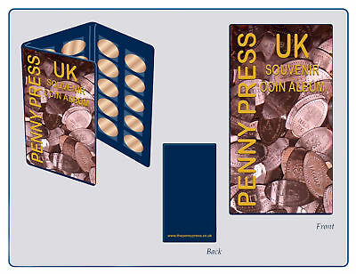 Pressed Penny Collection Book + 2 Pressed Pennies, Elongated Coin Passport Album