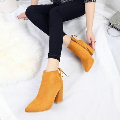New Winter Ankle Heel Women Shoes Luxury Design Warm Snow Fashion Boots