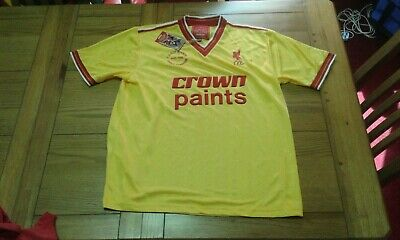 Liverpool Retro Third Shirt 1986-87 Size Xl New With Tags Crown Paints