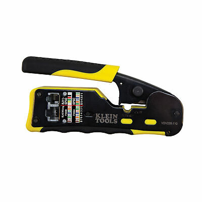 Klein Tools VDV226-110 Pass-Thru Modular Wire Crimper, All-in-One Tool