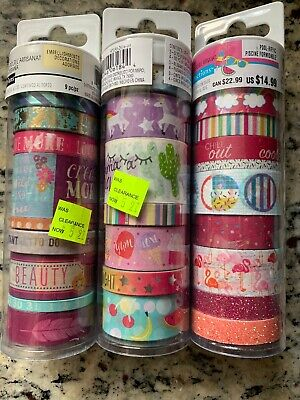 Recollections Washi Tape Lot New 24 Rolls!