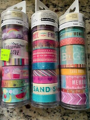Recollections Washi Tape Lot New 25 Rolls!