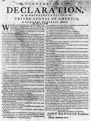 Photo:Declaration of Independence; July 4,1776 3563