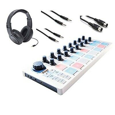 Arturia Beatstep Controller & Sequencer, Headphone, 2 CMM-310 & MID-305BK Cable
