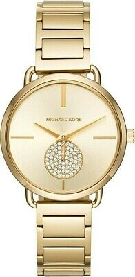 Michael Kors  MK3639 Portia Gold Tone Stainless Steel Gold Dial Ladies Watch