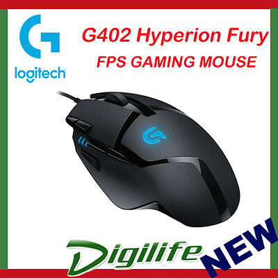Logitech G402 Hyperion Fury FPS Gaming Mouse 910-004070