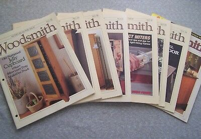 Lot Of 8 Vintage Woodsmith Notes From The Shop Magazines 1993-94 2003 Vol 15 16
