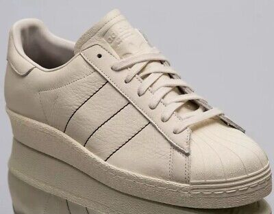ADIDAS SUPERSTAR 80S Trainers White Ecru White Trainers