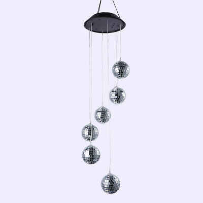 2 Pcs Wind Chime Lights Solar Night Light LED Hanging Lamp for Roof Porch Garden