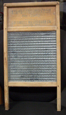 Antique Standard Family Size Columbus Washboard Co. No. 2080 Glass